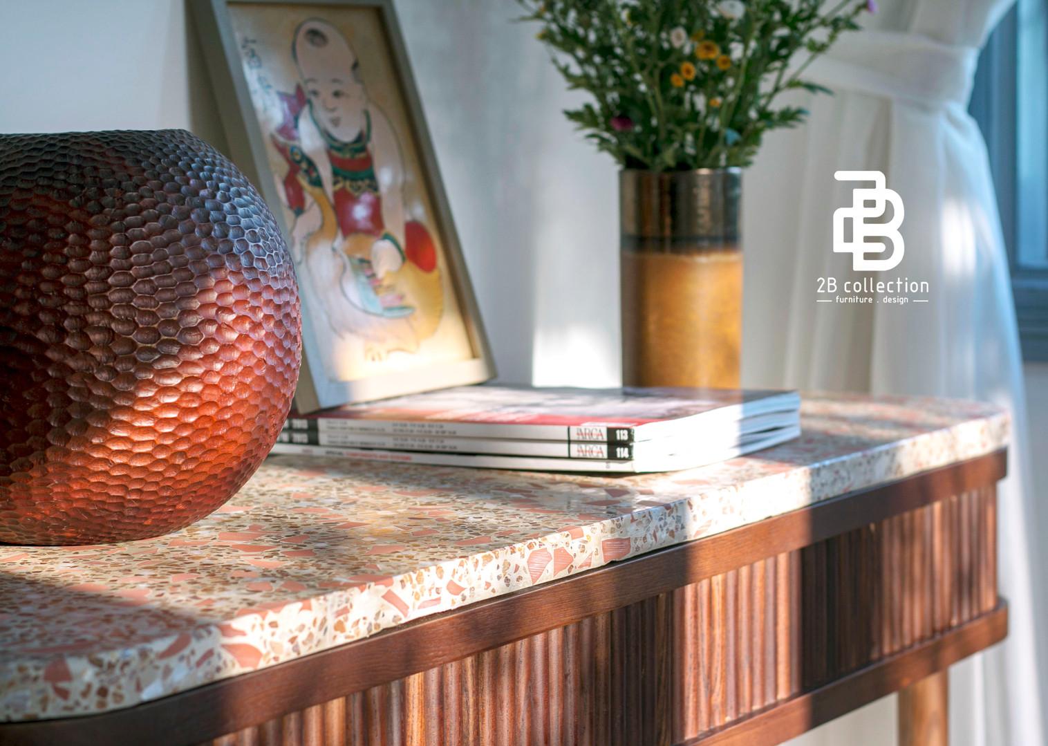 Terrazzo Terra-cotta console decor