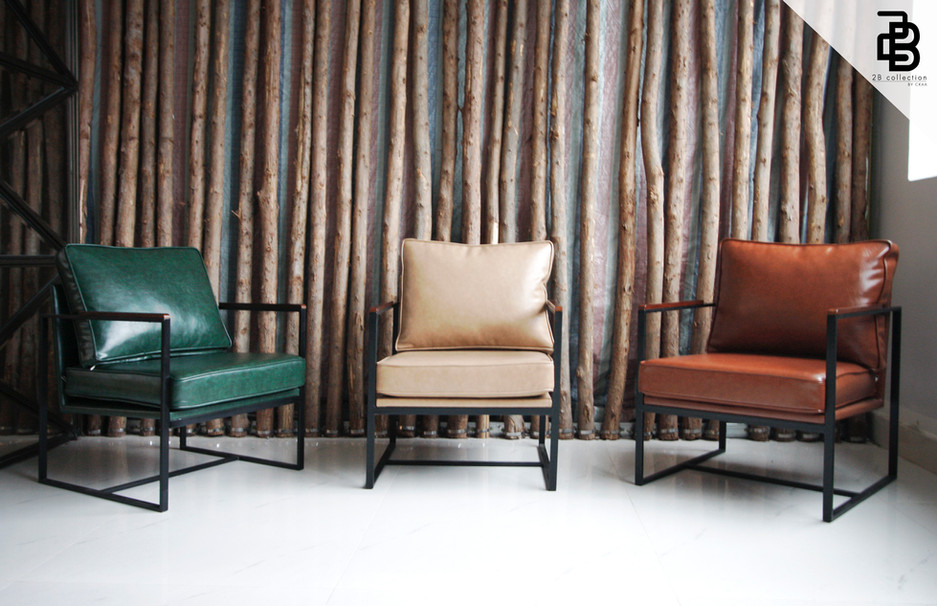 Metal armchairs