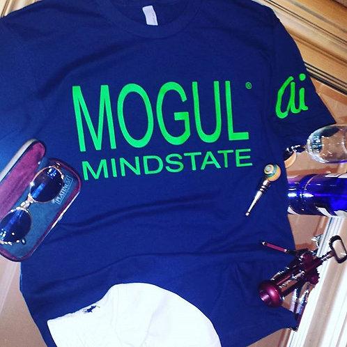 MOGUL MINDSTATE blue/neon green tee