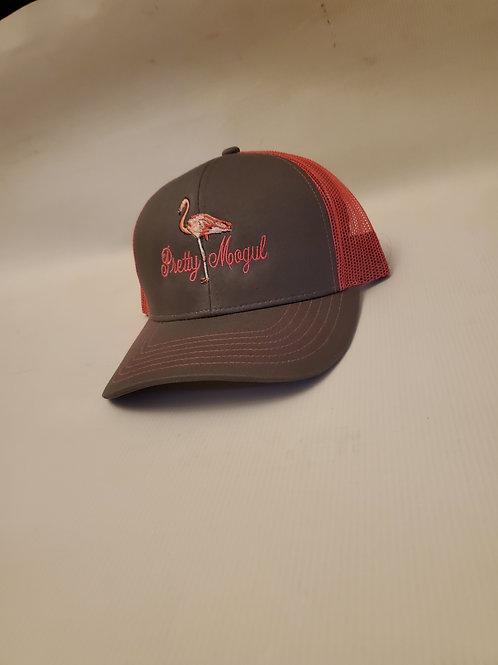 "Pretty MOGUL Trucker hat ""Flamingo"""