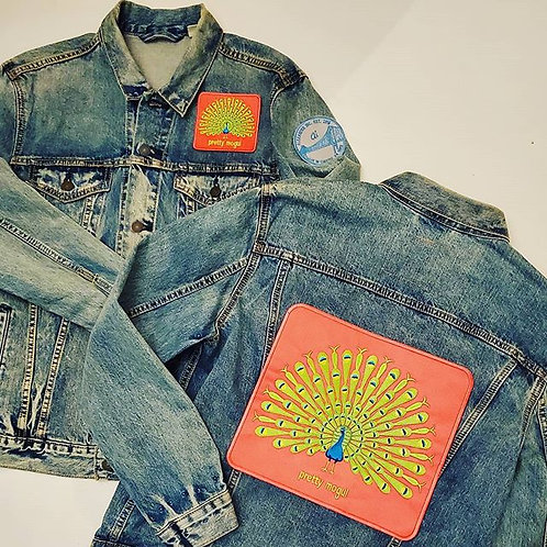 "Pretty MOGUL ""Proud as a Peacock"" Denim jacket"