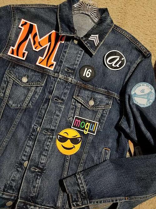 MOGUL Varsity style denim jacket