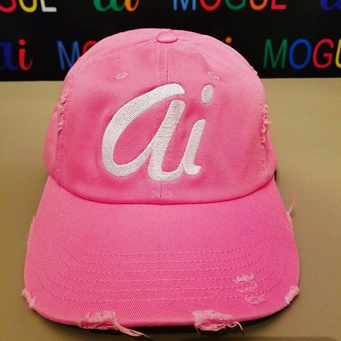 """Alexander Inc """"Ai"""" hat Pink/white letters"""