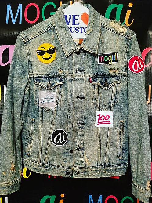 Size Small MOGUL Patches and Denim Jacket