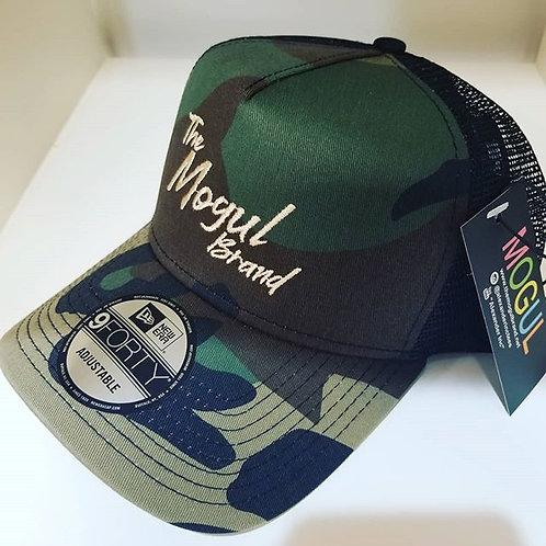 Camo & tan snapback MOGUL trucker hat