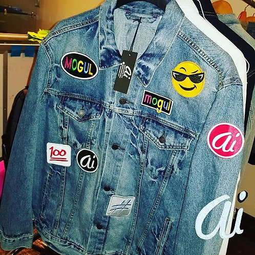 XL MOGUL Patches & Denim Jacket