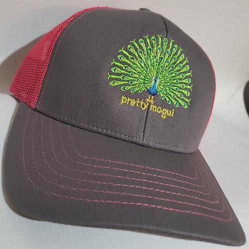PrettyMOGUL Trucker hat Charcoal/Fuchsia