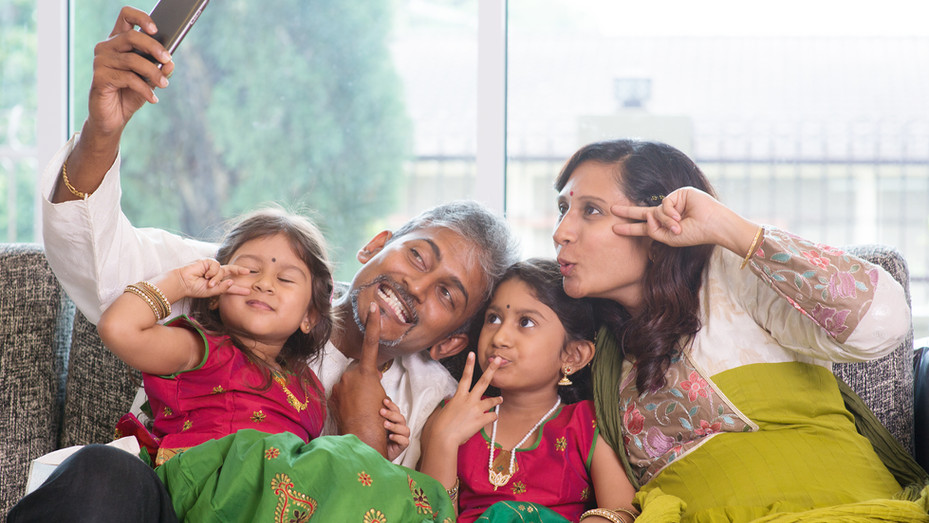 Family selfie or self photo