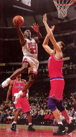 Gheorghe Muresan and Michael Jordan