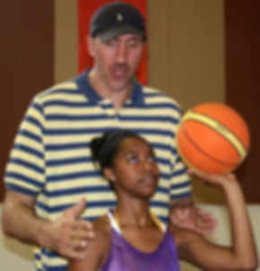 Former NBA Player Gheorghe Muresan Coaching Youth Basketball at Giant Basketball Academy