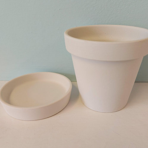 flower pot & saucer