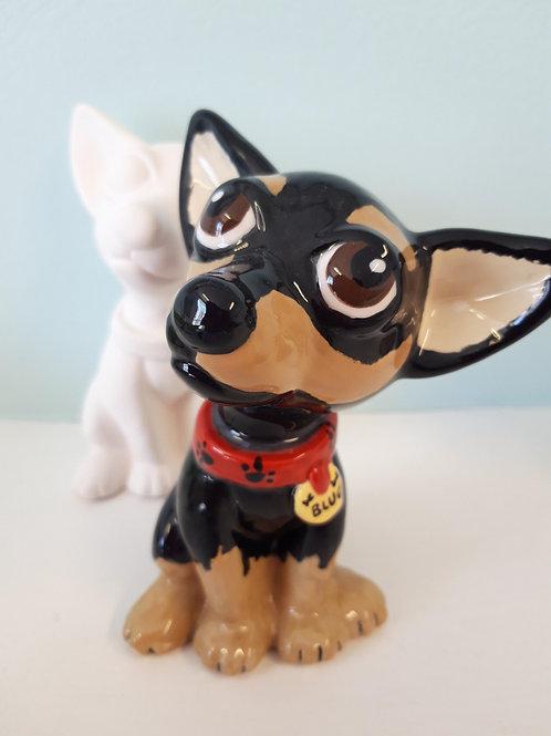 Chihuahua party figurine