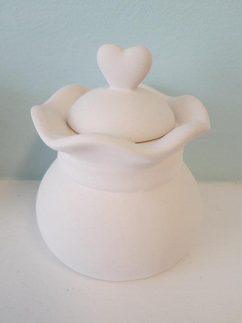 heart biscuit jar