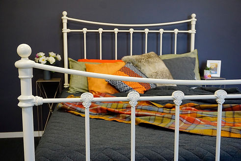 Empire Beds. Australian Made Beds. Sussex Cast Bed in Cream colour. Cast Iron Beds. Wrought Iron Beds. Cast Iron Beds reproduction. Iron Bed Frame. Cast Iron Beds Melbourne. Australian Made Beds.