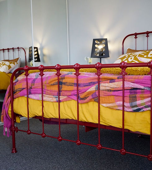 Empire Beds. Kensington Bed with Intermediate Foot. Wineberry Colour. Australian Made Bed.