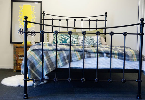 Somerset Cast Bed. Australian Made Bed. Empire Beds. Cast Bed. Cast Iron Bed. Wrought Iron Bed. Made in Melbourne.