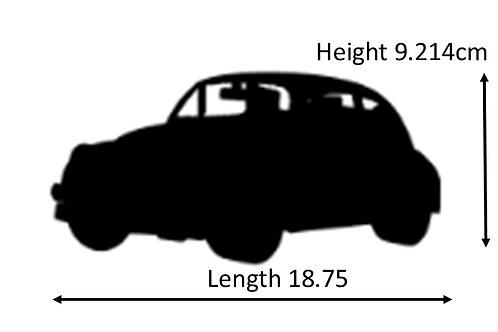 Car Silhouette - Beetle - Cut Out