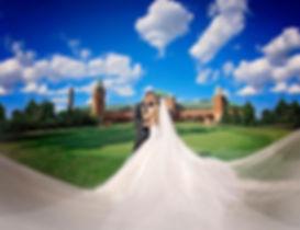 Bride and Groom outside wedding video screenshot