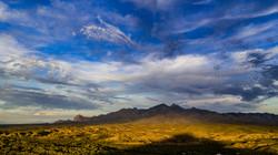 Aerial, drone, sunset landscapes over Tu