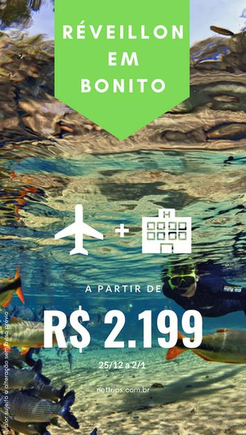 OFERTA - Réveillon em Bonito à partir de R$ 2.199