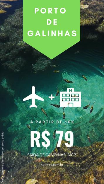 OFERTA - Porto de Galinhas por menos de R$ 800 com taxas!