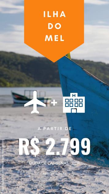 Natal e Réveillon na Ilha do Mel, por R$ 2.799* com voo e hospedagem