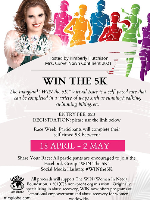 "Kimberly's ""WIN the 5K"" Virtual Race!"