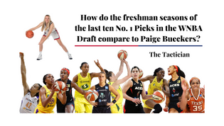 How do the freshman seasons of the last ten No. 1 Picks in the WNBA Draft compare to Paige Bueckers?