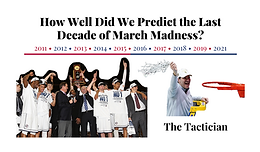 How Well Did We Predict the Last Decade of March Madness?