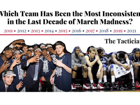 Which Team Has Been the Most Inconsistent in the Last Decade of March Madness?