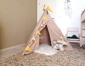 Tipi Little Indian avec son kit déco inclus
