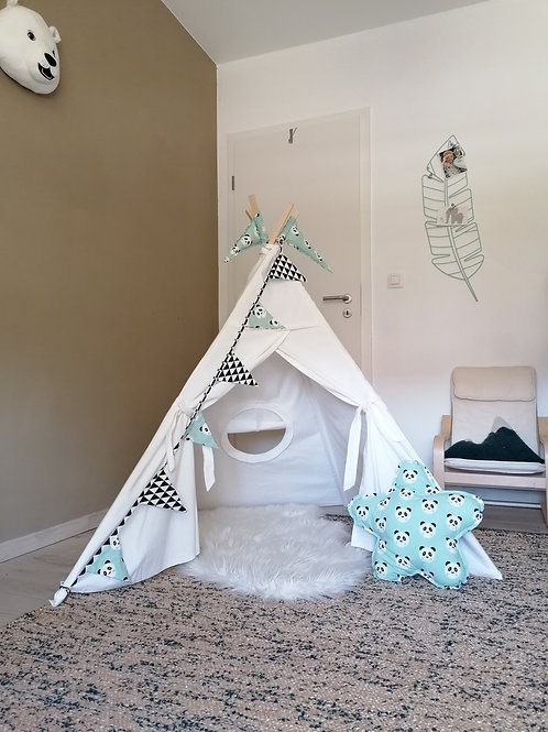 Tipi Little Indian - blanc