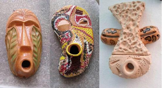 masques en céramique, © Tickson Mbuyi