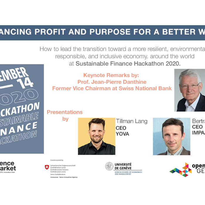 Yes You Can! Balance Profit for Good at Sustainable Finance Hackathon