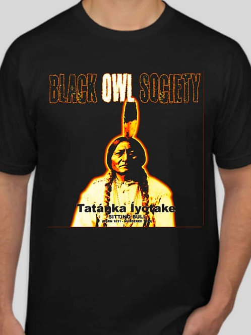 Black Owl Society Sitting Bull T-Shirt