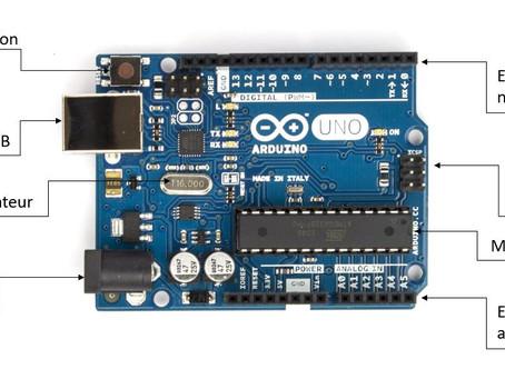 Les principaux composants visibles de la carte Arduino Uno