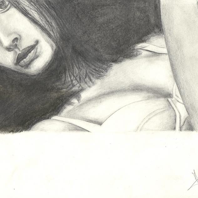 Femme demi nue originale