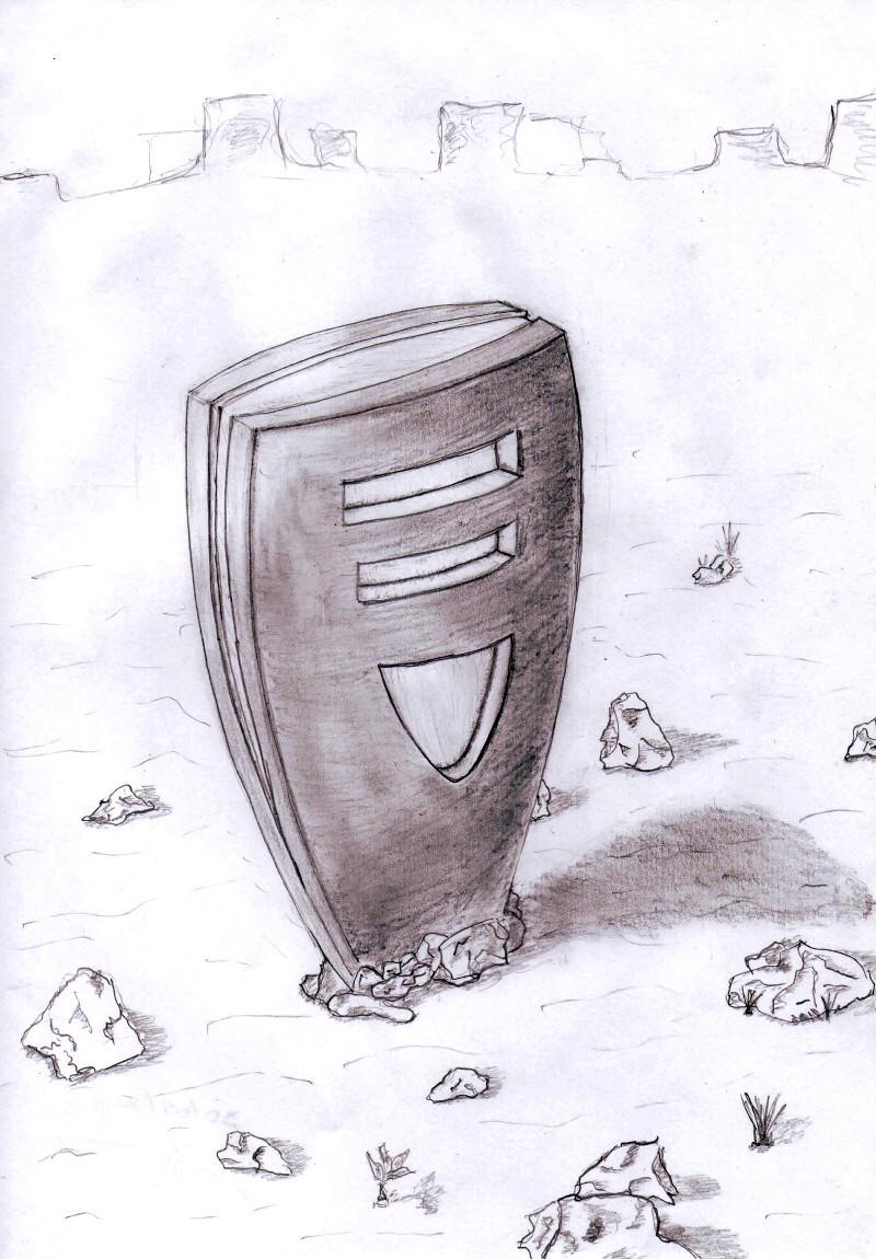 Un chargeur électrique en pleine thébaïde, dessin papier