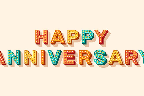 Happy Anniversary (with peach background)