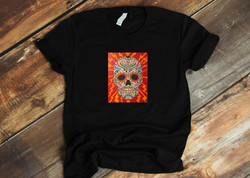 HOMER DUKE- DIOS LOS MUERTOS (with background on shirt)