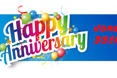 Happy Anniversary (with blue background)