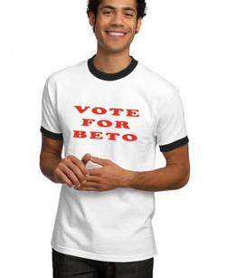 VOTE FOR BETO (on ringer shirt)