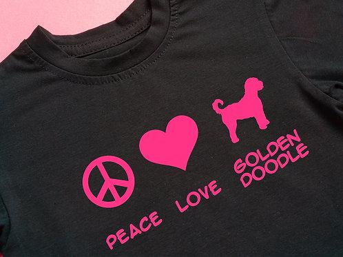 PEACE   LOVE   GOLDENDOODLE