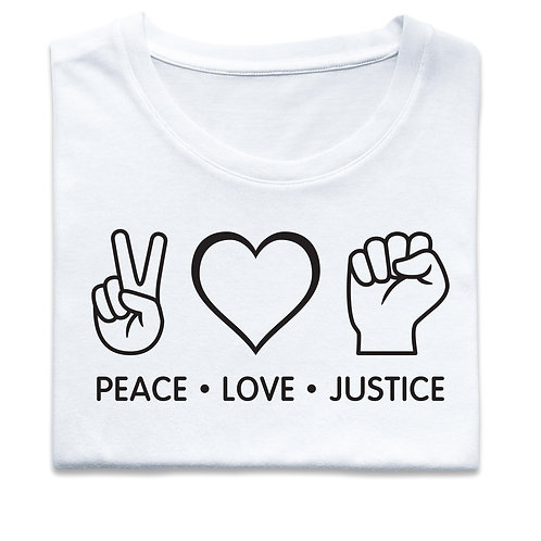 PEACE  LOVE  JUSTICE (Big and Tall)