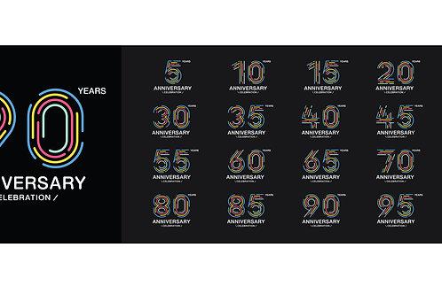 Happy Anniversary (various black shade templates)