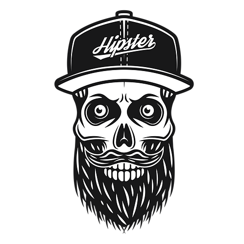 Hipster Skull (Big and Tall)