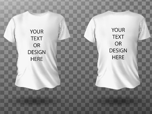 Custom Printed T Shirt (BIG AND TALL)