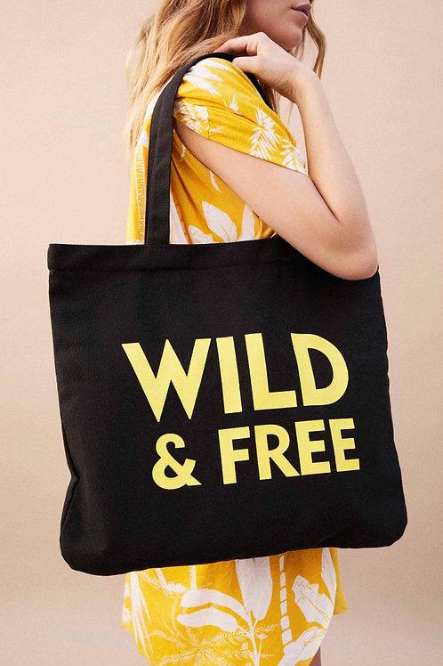 WILD - SHOPPING BAG BLACK