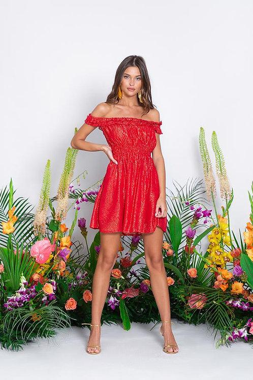 SUNDRESS - NOELLY SHORT DRESS MARBELLA COQUELICOT