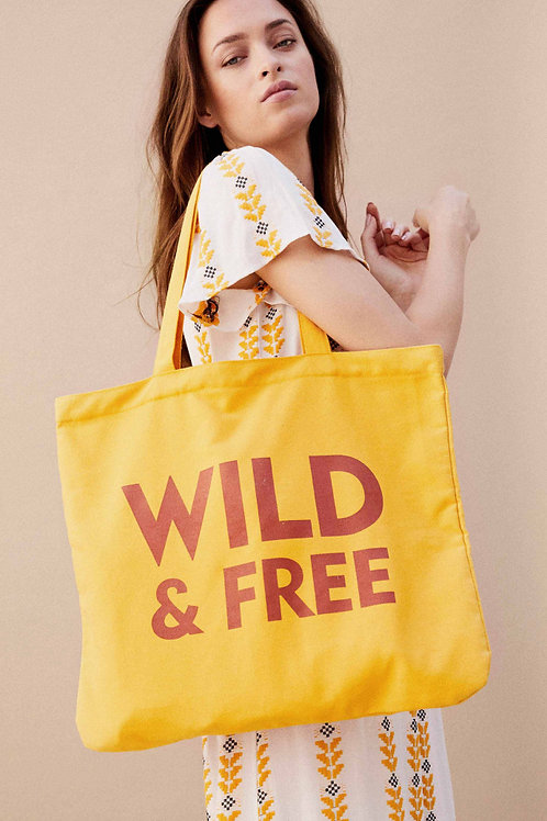 WILD - SHOPPING BAG YELLOW